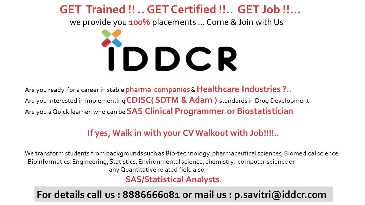 Training cum Placement in Clinical Research, SAS & Pharmacovigilance ...